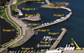 Karta över båtplatser