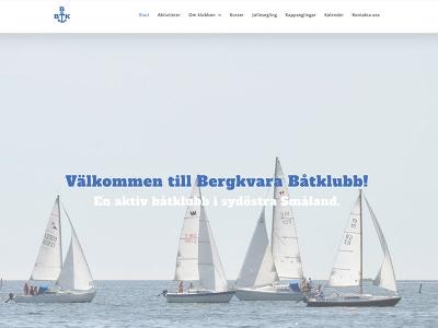 Bergkvara Båtklubb ny hemsida